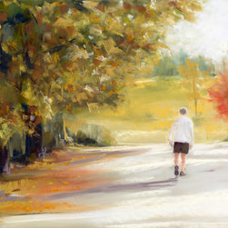 "Susan Frank Studio - Unframed Original Landscape Art, ""Fresh Air"" - - Unframed Original Pastel Painting"