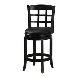 "Boraam - Boraam Kyoto 24"" Counter Height Swivel Stool in Black - Boraam - Bar Stools - 45225"