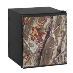 """Avanti - 1.7 Cu Ft Refrigerator with Camouflage Wrapped Door - 1.7 CF Compact/Auto Defrost Refrigerator, Ideally Designed for use in RV's, Boats, Campers and anywhere 115V AC or 12V DC Power is available, Lightweight and Portable, Full range Temperature Control, Soft Interior Light with ON/OFF Switch, Adjustable / Removable Shelving, Tall Bottle Rack on Door Accommodates 2 Liter Bottle, 12 V Adapter Included, Free standing installation only, unit dimensions: 23.5"""" H x 21.25"""" W x 23"""" D"""