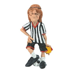 GSC - 6.5 Inch Whimsical Soccer Referee Figurine with Hair in Face - This gorgeous 6.5 Inch Whimsical Soccer Referee Figurine with Hair in Face has the finest details and highest quality you will find anywhere! 6.5 Inch Whimsical Soccer Referee Figurine with Hair in Face is truly remarkable.
