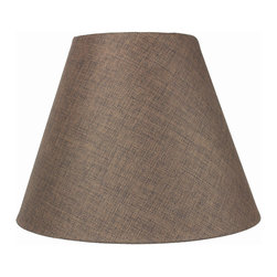 7x14x11 Hard Back Empire Lamp Shade - Light Oatmeal Linen - Home Concept Signature Shades feature the finest premium hardback parchment.