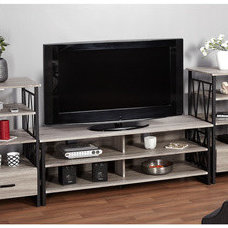 Serving Dishes And Platters Simple Living Seneca Black/ Grey Reclaimed 60-inch TV Stand with Piers