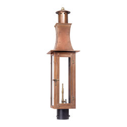 ELK - Elk Lighting 7910-WP Outdoor Gas Post Lantern Maryville Collection - Outdoor Gas Post Lantern Maryville Collection In Solid Brass In an Aged Copper finish.