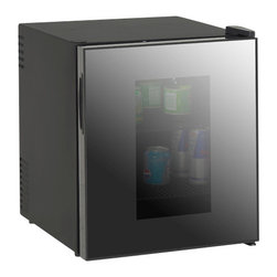 Avanti - 1.7 Cubic-Foot Deluxe Beverage Cooler - Avanti 1.7 cu. ft. Deluxe Beverage Cooler w/ Mirrored Finish Glass Door - Free-Standing 1.7 cu. ft. Beverage Center.  Compact and stylish unit features Super Conductor cooling technology for whisper quiet operation and superb cooling performance.  Ideal for home, bars, offices and hotels to showcase and serve beverages for friends and guests.