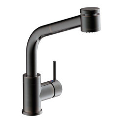 Estora - Estora Tasimo Single Handle Kitchen Faucet, Brushed Bronze - Estora Single Handle Kitchen Faucet from the Tasimo Collection