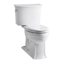 KOHLER - KOHLER K-3551-0 Archer Comfort Height Two-Piece Elongated 1.28 GPF Toilet - KOHLER K-3551-0 Archer Comfort Height Two-Piece Elongated 1.28 GPF Toilet with Class Five Flush System in White