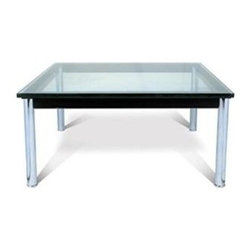 Fine Mod Imports - 48 in. Lc10 Coffee Table in Clear - 15mm Tempered glass. Chrome legs. 48 in. W x 48 in. D x 14 in. HThe LC10 Coffee Table offers sleek lines to go with your LC chair or sofa collection.