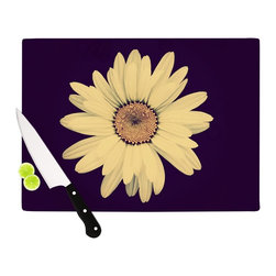 """Kess InHouse - Robin Dickinson """"Half Crazy"""" Black Yellow Cutting Board (11"""" x 7.5"""") - These sturdy tempered glass cutting boards will make everything you chop look like a Dutch painting. Perfect the art of cooking with your KESS InHouse unique art cutting board. Go for patterns or painted, either way this non-skid, dishwasher safe cutting board is perfect for preparing any artistic dinner or serving. Cut, chop, serve or frame, all of these unique cutting boards are gorgeous."""
