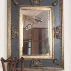 Cadence - This stately mirror has antiqued gold leaf inner