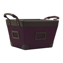 Yu Shan - Small Storage Basket (Plum) - Color: PlumWarranty: 90 days. Made from canvas. No assembly required. 13.5 in. W x 10.25 in. D x 8.5 in. H (2.5 lbs.)Keep this storage basket handy at home or in the office to store important documents and more in a discrete manner. Coordinate this storage basket with other organizing baskets and boxes.