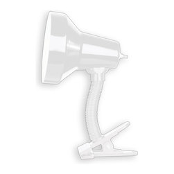 Dainolite - Dainolite DXL16-WH Gooseneck Clip-On Lamp Gloss White Finish - Dainolite DXL16-WH Gooseneck Clip-On Lamp Gloss White Finish