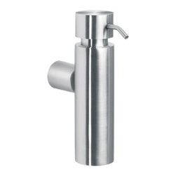 Blomus - DUO Wall Mounted Soap Dispenser by Blomus - Keep the counter cleaner with the Blomus DUO Wall Mounted Soap Dispenser. A chic option to plastic, this soap dispenser complements a wide variety of decorating schemes. Match with the many Blomus bathroom accessories available through Lumens.