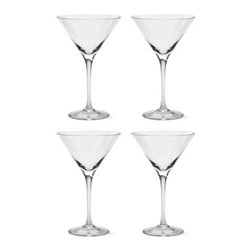 Tag - Bella Martini Glasses, Set of 4, Clear by Tag - Our Bella martini glasses is perfect for any parties or events. Sparkling glass is clear and bright. Classic martini shape sits atop a seamless, hand-pulled stem. Enjoy your favorite cocktail in timeless style.