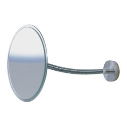 WS Bath Collections - Sunny Wall-Mount Magnifying Mirror w Flexible - Choose Magnification: 5xMakeup Magnifying Mirror. Massive Solid Stainless Steel. Hand Brushed. Made to Highest Industry Standards. Made in Germany. Product Material: Brushed Stainless Steel. Finish/Color: Silver. Dimensions: 6.3 in. Diameter