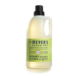 Mrs. Meyer's 2x Laundry Detergent - Lemon Verbana - Case Of 6 - 64 Oz - Mrs. Meyer's Clean Day Lemon Verbena Laundry Detergent liquid is one of our hardest working cleaners. It is concentrated, safe and gentle on clothes-yet it really packs a punch when it comes to removing dirt and grime. Contains Anionic Surfactants from plant-derived sources, Cotton Extract, Borax, dirt and stain-fighting enzymes, and of course, those important natural essential oils for a garden-fresh fragrance. Formulated for all washers including high-efficiency washing machines. Begin your laundry day by sorting clothes and linens. Check for stains and items left in pockets (candy wrappers, lunch tickets, coins, etc.). Next, select the right water temperature. Use HOT water for whites, colorfast pastels and light prints. Use WARM water for permanent press clothes and jeans. COLD water works best for bright colors and fabrics that tend to fade. Then add Laundry Detergent: 1/2 capful for an ordinary load, 3/4 capful for an extra-large or particularly filthy load of clothing. So easy! The formula is made from 97% naturally derived ingredients like lemon peel oil and fir leaf oil.