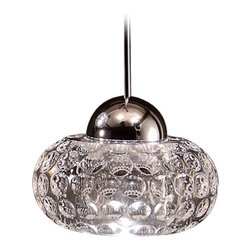 Wac Lighting LED Crystal Collection Chrome LED Mini-Pendant with Bowl / Dome Sha -