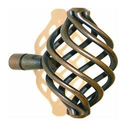 Alno Inc. - Alno Creations Eclectic 77mm Birdcage Pull (3 Inch) Rust A506-Rst - Alno Creations Eclectic 77mm Birdcage Pull (3 Inch) Rust A506-Rst