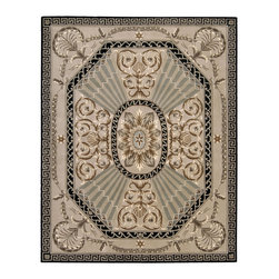 Nourison - Nourison Versailles Palace VP03 (Beige) 8' x 11' Rug - The serenely elegant designs of this collection were inspired by the 18th Century French carpets that first brought Persian and Oriental rug motifs to the royal courts of Europe. Yarns for these distinctive carpets are spun exclusively from the highest quality wool. A hand-tufted construction of extraordinary density creates a tight, luxurious pile that is a pleasure to both the eye and the touch. Delicate accents of hand-carving highlight the contours of each design to enhance a look of rare subtlety and refinement.