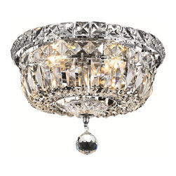 Elegant Lighting - Elegant Lighting 2528F10C/RC Tranquil Collection Flush Mount - Elegant Lighting 2528F10C/RC Tranquil Collection Flush Mount