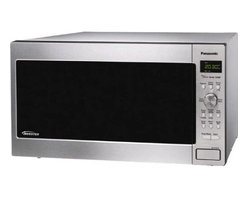 Panasonic - Panasonic 1.6 Cubic-Foot Microwave Inverter Stainless Steel - Panasonic NN-SE782S - Full Size Stainless Steel - 1.6 Cu ft. 1250 Watts.  Built with Inverter Technology.  Electrostatic Dial Controls with Button Panel.  Cool LED Display.  One-Touch Sensor Cooking & Reheating.  Inverter Turbo Defrost.  6 Digit Display. Menu Action Screen.  Popcorn Key.  Keep Warm.  Quick Minute.  More/Less Control *Optional Wall Installation with Trim Kit.  Genius Prestige Collection.