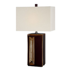 Lite Source - Table Lamp - Coffee Ceramic Body/Fabric - Table Lamp - Coffee Ceramic Body/Fabric