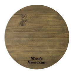 Home Decorators Collection - Bistro Personalized Lazy Susan - Our Bistro Personalized Lazy Susan is a well-scaled spinning piece perfect for your dining table. Features laser engraved personalization that makes it the perfect gift. Maximum 15 characters per line. Made in the USA.
