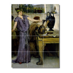 Picture-Tiles, LLC - Pottery Painting Tile Mural By Lawrence Alma-Tadema - * MURAL SIZE: 48x36 inch tile mural using (12) 12x12 ceramic tiles-satin finish.