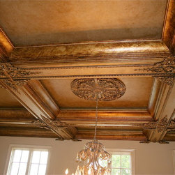 Living room ceiling Before &after -