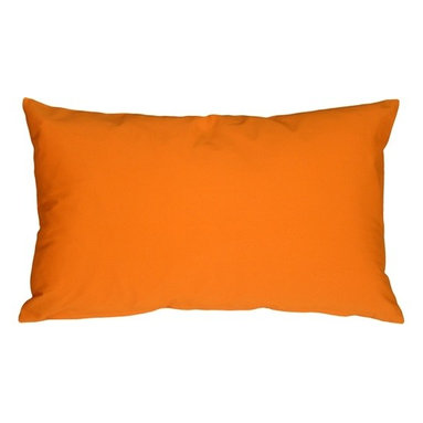 Pillow Decor - Pillow Decor - Caravan Cotton Orange 12 x 19 Throw Pillow - Bold and beautiful, the Caravan Cotton 12 x 20 Throw Pillows are the ideal pillows for adding a simple splash of color to your decor. With 3% spandex added to improve durability and wash ability, this soft cotton pillow will provide long lasting comfort.