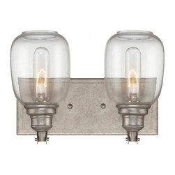 Joshua Marshal - Two Light Clear Glass Industrial Steel Vanity - Two Light Clear Glass Industrial Steel Vanity