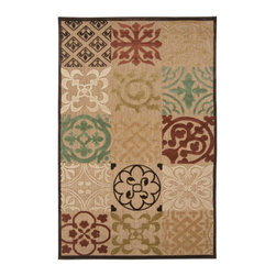 """Surya - Surya Portera Woven Brown Indoor/Outdoor Olefin Rug, 18"""" x 18"""" - Elegant contemporary designs and subtle transitional motifs adorn the unique patterns of the Portera Collection.  These rugs are machine woven of 1% Olefin and are outdoors safe.  The added element of the thin to low pile features within the pattern gives this collection the added visual interest to attract attention to your outdoor spaces.  Imported.Material: 100% OlefinCare Instructions: Blot Stains"""