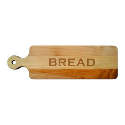 "Frontgate - Personalized Bread Board with Name - 100% premium maple wood. Also makes a great cheese server. Hand wash only. View care instructions. Made in the USA. Crafted from premium-quality maple wood, this handsome Personalized 20"" Maple Bread Board is perfect for slicing through loaves of hearty artisan bread and can be personalized with a single initial or three-letter monogram, or customize it with your name or phrase (up to 10 letters on the front).. . . . . Note: Personalized products are nonreturnable and require an additional 10 business days for delivery. Each cutting board is personalized to order to ensure ideal sizing and placement of font; variations in font size and style may occur from what is represented on this site. Please contact our Product Specialists with additional questions regarding the personalization of these items."
