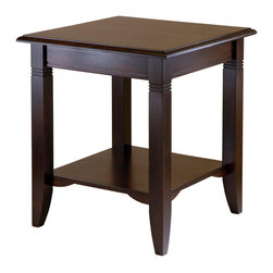 Winsome Wood - Winsome Wood Nolan End Table in Cappuccino - End Table in Cappuccino belongs to Nolan Collection by Winsome Wood Clean, traditional lines make Nolan end table a great fit for any decor and home. The lower shelf gives more room to display and storage. Made of solid and composite wood. Easy to Assemble. End Table (1)