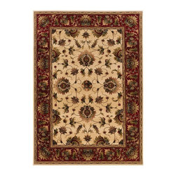 """Oriental Weavers - Traditional Knightsbridge 4'x5'9"""" Rectangle Beige-Red Area Rug - The Knightsbridge area rug Collection offers an affordable assortment of Traditional stylings. Knightsbridge features a blend of natural Beige-Red color. Machine Made of Wool the Knightsbridge Collection is an intriguing compliment to any decor."""