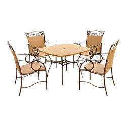 International Caravan - International Caravan Valencia Outdoor Wicker 5 Piece Patio Set - International Caravan - Patio Dining Sets - 4105S/5 - For over 44 years International Caravan has been one of the leaders in quality outdoor and indoor furniture. Using only the finest materials they bring skill craftsmanship and complete dedication to those who enjoy their furniture. You cannot go wrong with any of International Caravan's beautifully constructed pieces of furniture that are sure to be a focal point inside or outside of your home for years to come.