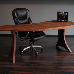 "Office - Desk Sapelli solid wood 34"" x 84"" x 30"""