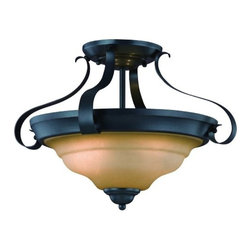 Hardware House - Electrical - 10-1547 3-Light Classic Bronze Semi-Flush Lite - Palermo 3-Light Ceiling Fixture