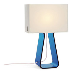 Pablo Designs - Tube Top Table Lamp in Sky Blue - Features: