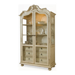 A.R.T. - A.R.T. Provenance Display Cabinet in Linen - Provenance draws its influence from provincial regions throughout France and England. The collection creates livable comfort with a soft, serene, and refined style, that is comforting at the end of a long day. The full charm of the collection is reflected in the elements of design, that inspire a free-thinking, mix-and-match approach to decorating your home. So sit back, kick up your feet and enjoy a cup of tea.