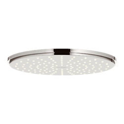 Grohe - Grohe 27814BE0 Shower Head In Sterling Infinity Finish - Grohe 27814BE0 from the Rainshower Heads and Accessories add a new level of performance to your shower. The Grohe 27814BE0 is a Shower Head With a Sterling Finish for a highly reflective yet warmer appearance than Chrome.