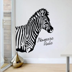 ColorfulHall Co., LTD - Zebra Jungle Animal Wall Decals - You will find hundreds of affordable peel - and - stick wall decal designs, suitable for all kinds of tastes and every room in your house, including a children's movie theme, characters, sports, romantic, and home decor designs from country to urban chic. Different from traditional decals, vinyl wall decals is with low adhesive that allows you to reposition as often as you like without damaging the paint. Application is easy: peel offer the pre-cut elements on the design with a transfer film, and then apply it to your wall. Brighten your walls and add flair to your room is just as easy.