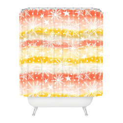 DENY Designs - DENY Designs Heather Dutton Snow Squall Wonder Shower Curtain - Who says bathrooms can't be fun? To get the most bang for your buck, start with an artistic, inventive shower curtain. We've got endless options that will really make your bathroom pop. Heck, your guests may start spending a little extra time in there because of it!