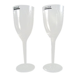 Lalique Angel Champagne Flutes  Boxed set of 2