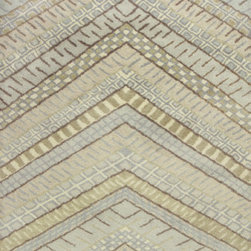 "KAS - KAS Amore 2716 Chevron (Frost) 5' x 7'6"" Rug - This Hand Tufted rug would make a great addition to any room in the house. The plush feel and durability of this rug will make it a must for your home. Free Shipping - Quick Delivery - Satisfaction Guaranteed"