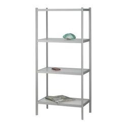 Adesso Aspen Four Shelf Unit - White/Light Grey - About AdessoAdesso was established in 1994 based on the belief that there was an under-served niche among consumers who sought high-quality contemporary home products at moderate prices. Since then Adesso has not only revolutionized the home industry with its products and service but has also gained substantial recognition for its well-designed and well-priced lamps and RTA (Ready-To-Assemble) furniture quickly establishing itself as an industry leader. Its collections represent a variety of home accents and furniture including lighting kids lamps clocks tables chairs coat racks and screens. With these and all of its other innovative products Adesso continues to shape the future of home design.
