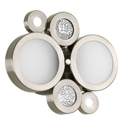 Progress Lighting - Progress Lighting P2026-09WB Bingo Two Light Wall Sconce with Decorative Cutouts - Features: