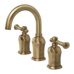 """Pegasus - Pegasus Verdanza Two Handle 8 Widespread Lavatory Faucet (67389-8024H) - Pegasus 67389-8024H Verdanza Two Handle 8"""" Widespread Lavatory Faucet, Antique Brass"""