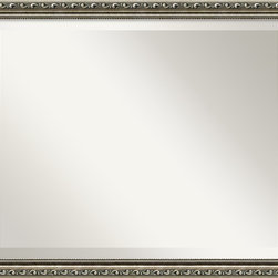 Amanti Art - Parisian Silver Wall Mirror - You love Europe with a particular fondness for Paris. To you it means Haussmann's wide boulevards with cafés and shops. Drawing rooms with fireplaces topped by antiqued mirrors. Now you can have a little piece with this elegant mirror and its fine-beaded inner edge.