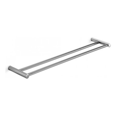 "WS Bath Collections - Picola Double Towel Rail in Polished Chrome 23.6"" - Features:"