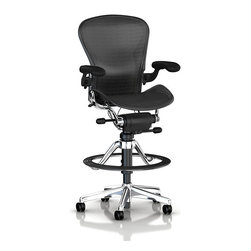 Herman Miller - Aeron Stool, Low Height - This remarkably engineered ergonomic stool is built for your body to make any task fly by.  It won't even feel like work when you've got this kind of comfort and support.